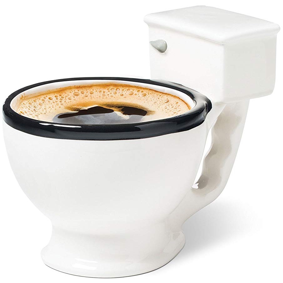 Ceramic Coffee Cup With Funny Toilet Mug Look
