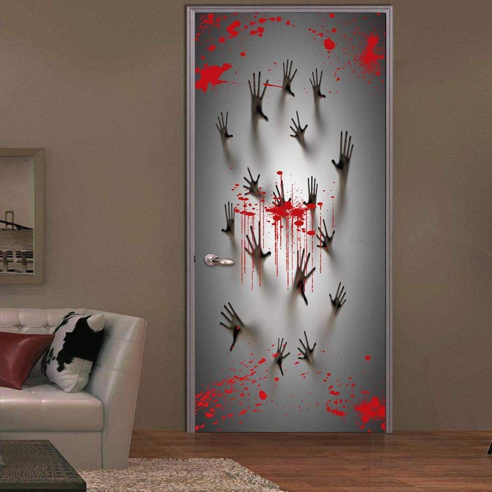 haunted house door cover for halloween | viral gads