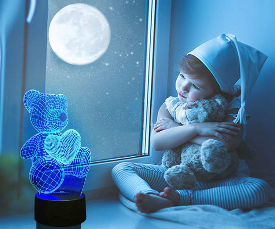 Teddy Bear Nightlight with Heart