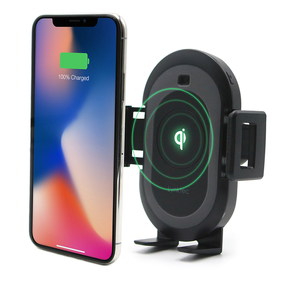 Bolt Car Mount Phone Holder Qi Wireless Charger Lynktec