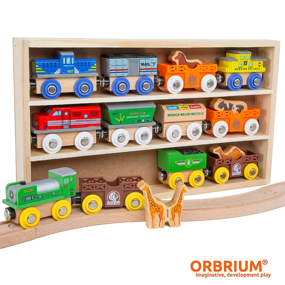 Endearing wooden toys and train car collection with animals