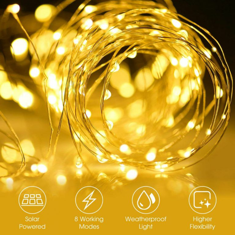 Luminous Mpow Solar string light to make your space dreamy and glowing.