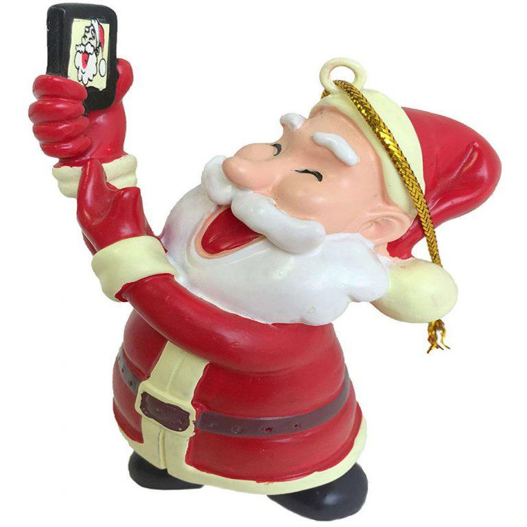 Trending Tree Buddees Selfie Santa Claus Christmas ornament brings smiles all over!