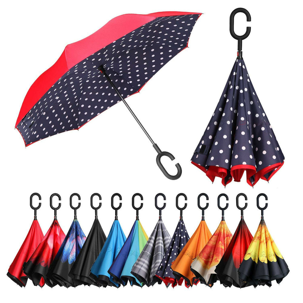 Dodge The Strong Winds, Scorching Sun, And Heavy Rains With Stylish Double Layer Invertible Umbrella