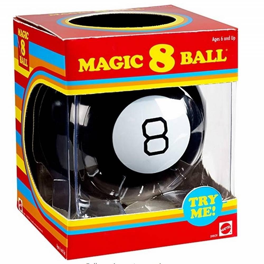 Fortune telling Magic 8 ball retro edition