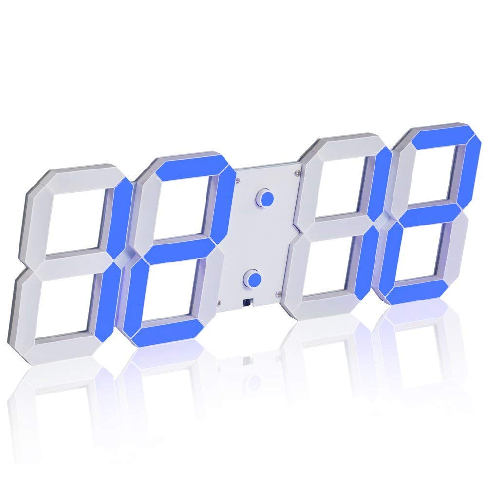 "Smart LED Wall Clock 6"" Length 142 LED 1224 Hr Setting 16 Alarms Along With Stopwatch And Countdown"