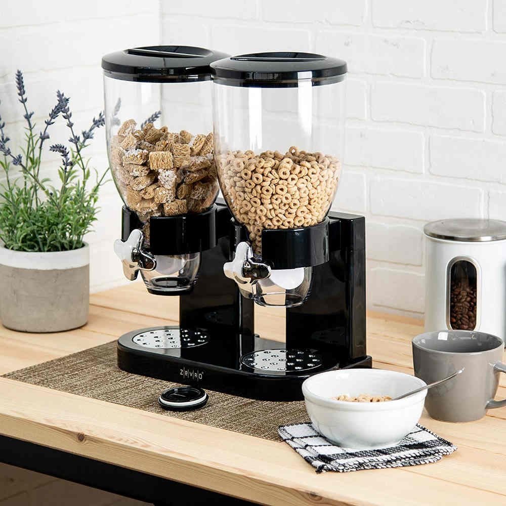 A Stunning Dual Cereal Dispenser For Hassle Free Breakfasts