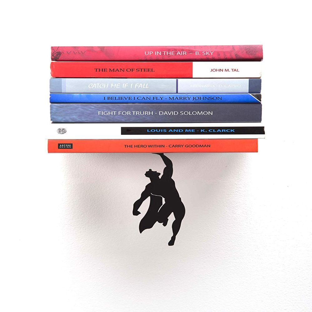 An Unusual Superhero Bookshelf To Display Your Exquisite Book Collection