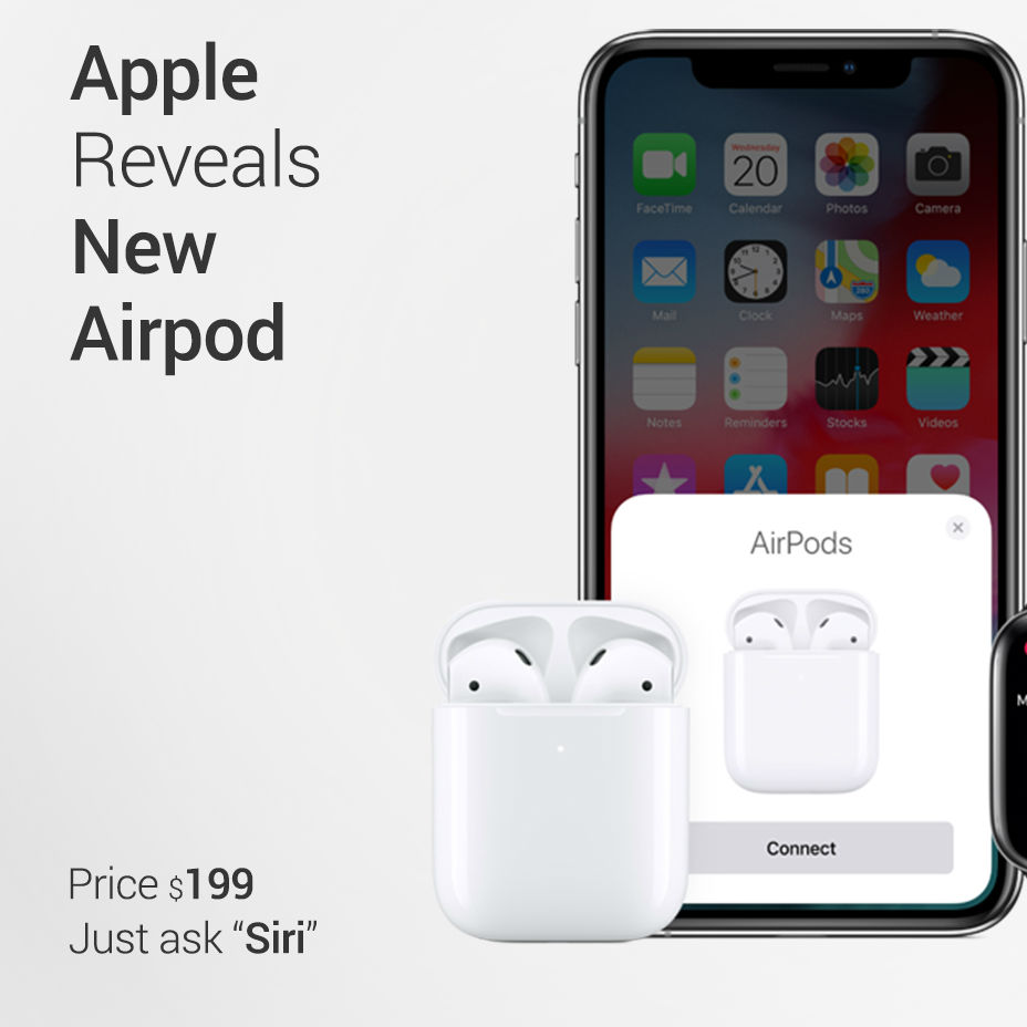 b21fa5c37cf The Latest Apple AirPods With Wireless Charging Case | Viral Gads