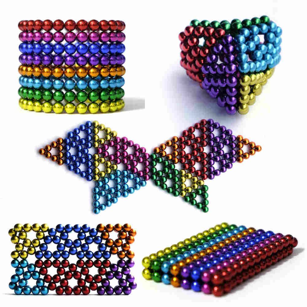 Get Creative And Entertained With This Multicolored Magnetic Cube