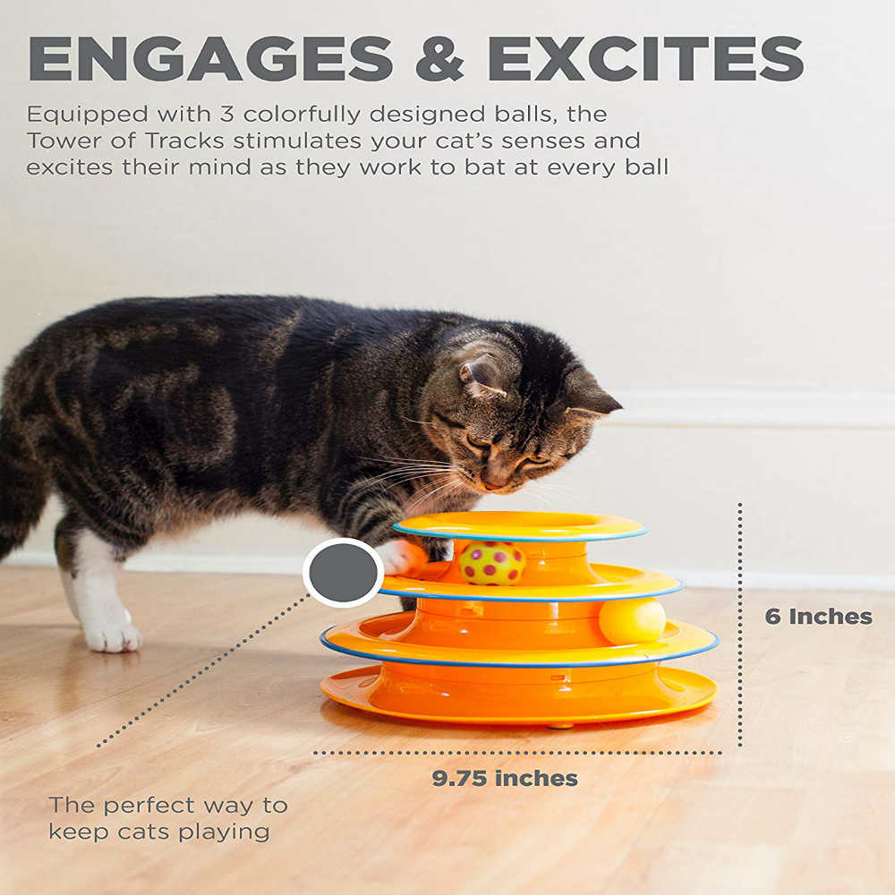 Give Your Cat A Playful Time With This Tower Of Tracks