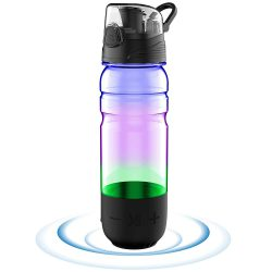 Stay Hydrated With This Smart Water Bottle with Bluetooth Speaker and Light