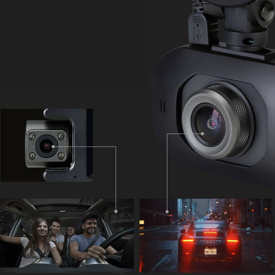 Z3Pro Dual Dash Camera for Uber