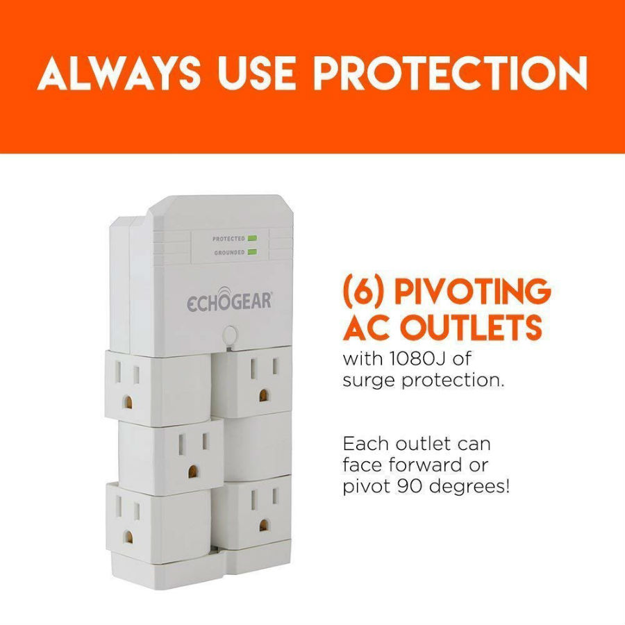 ECHOGEAR On-Wall Surge Protector