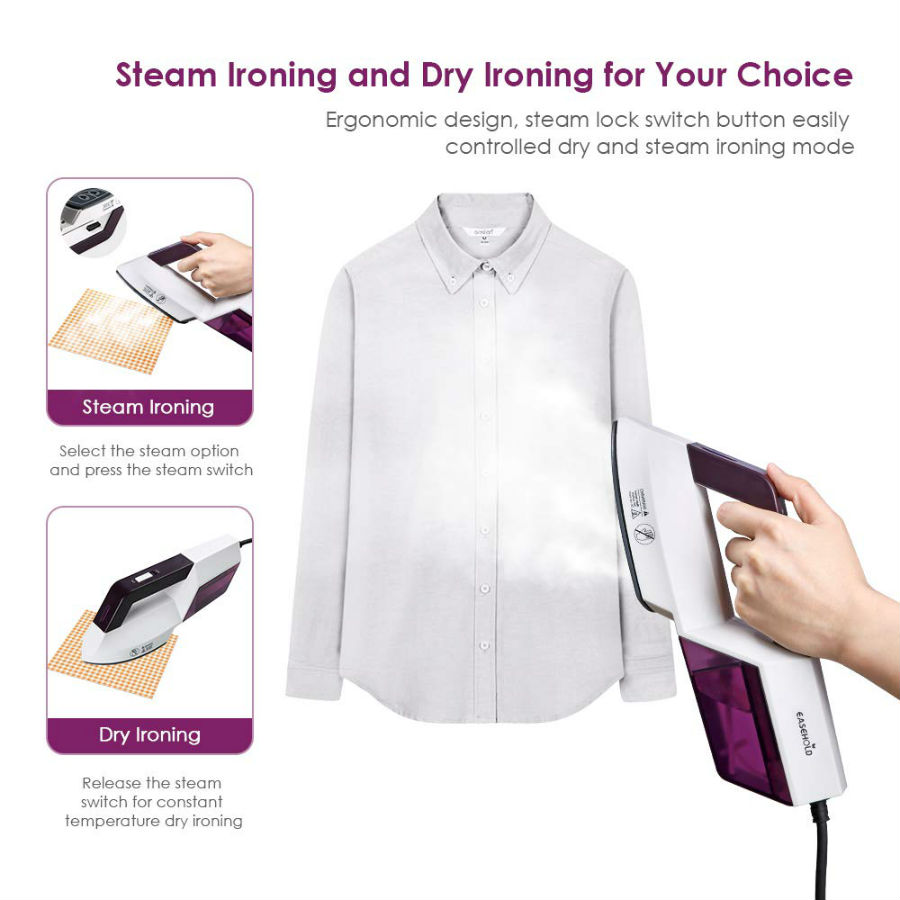 Handheld Clothes Steamer and Hang Dry