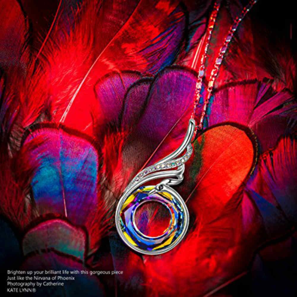 Crystal Pendant Necklace that Represents Nirvana of Phoenix