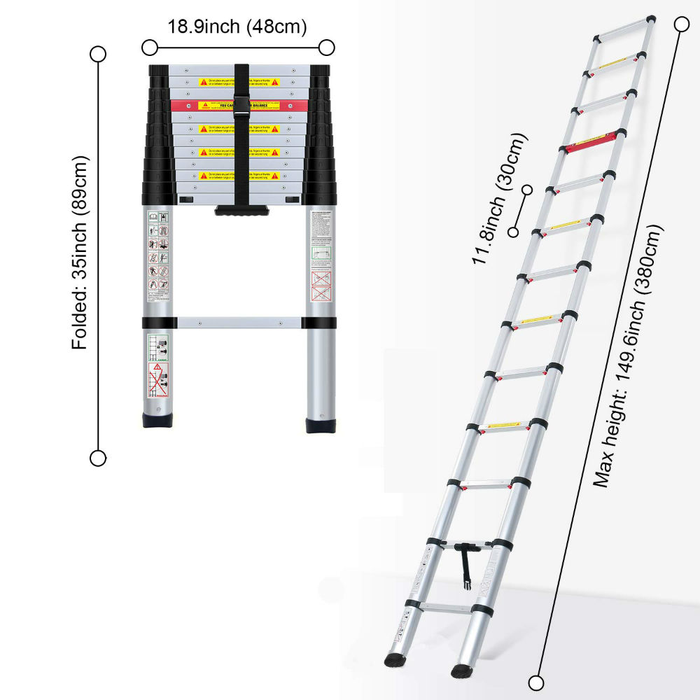 Multipurpose Aluminum Ladder to Assist You Safely