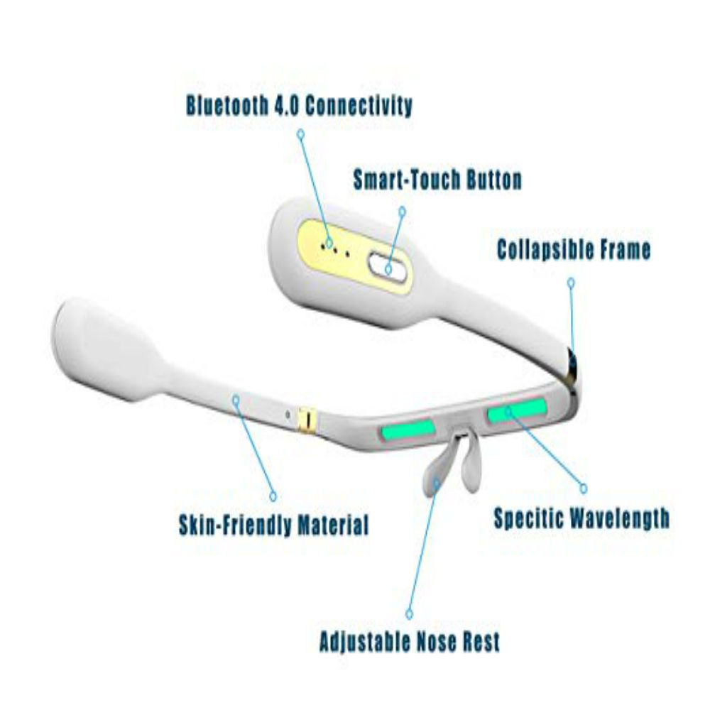 Smart Light Therapy Glasses for Improved Sleep