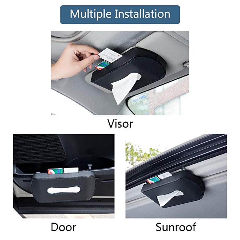 Car Visor Tissue Holder with Multipurpose Use