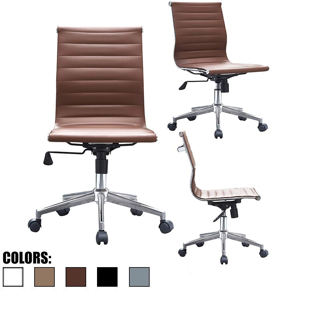 Modern Armless Office Chair with Luxurious Design