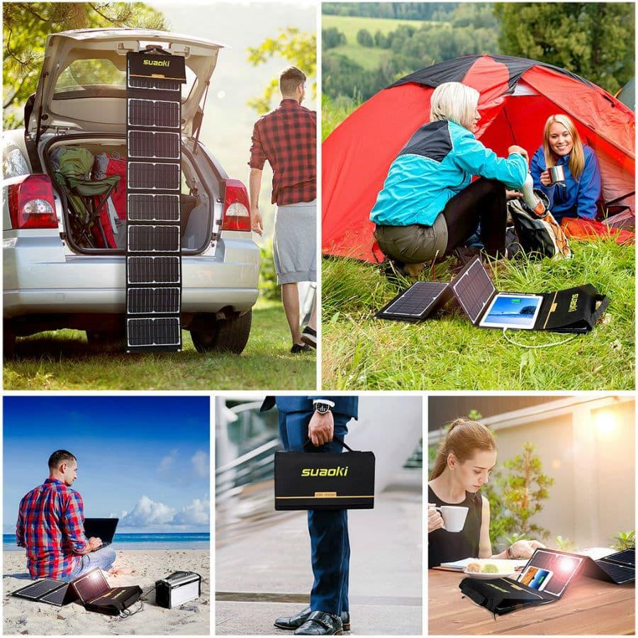 SUAOKI 60W Portable Solar Panel Charger