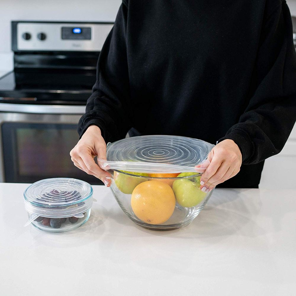 Silicone Stretch Lids that Helps You Keep Your Food Fresh