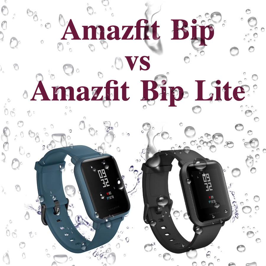 Amazfit Bip vs Bip Lite