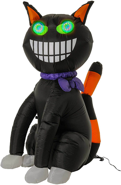Halloween haunters scary black cat prop