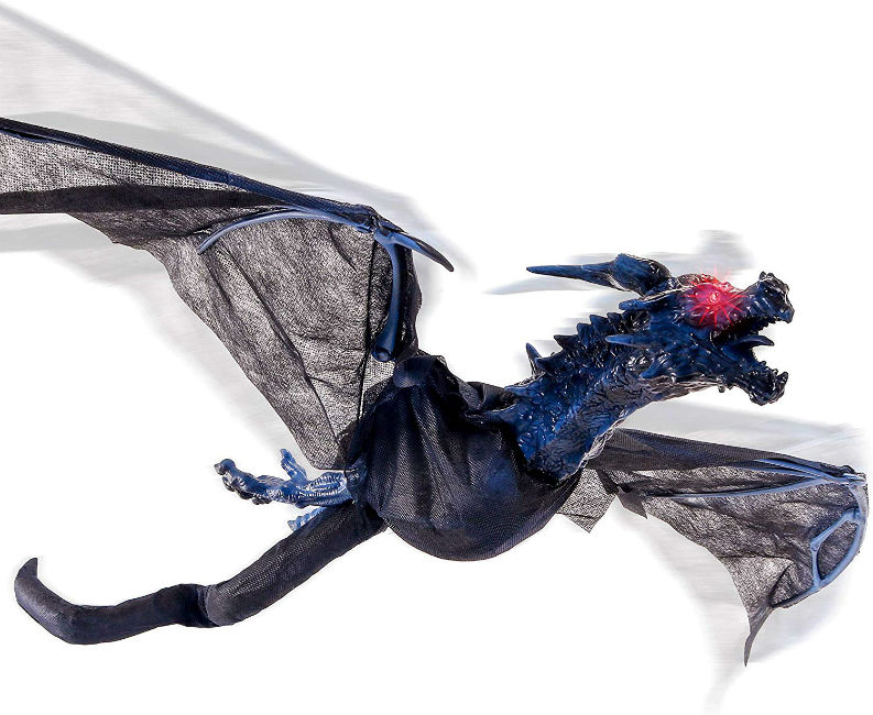 Halloween hunters animated flying dragon