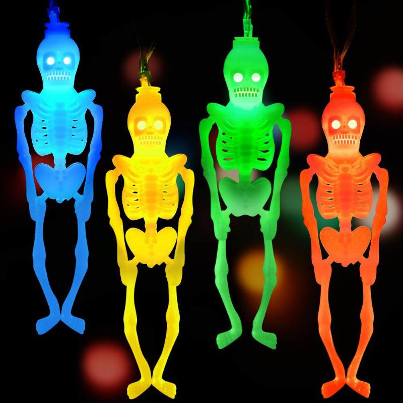 LUDILO skeleton string halloween lights