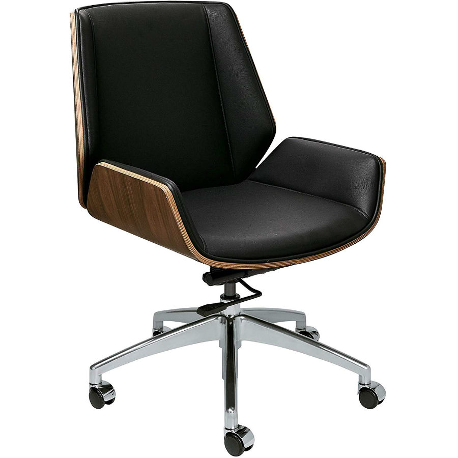 Eames Style Office Chair With Vegan Leather