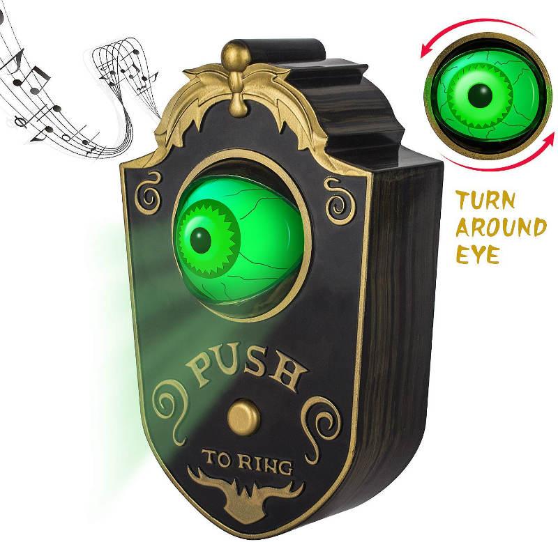 sler scary talking eyeball doorbell