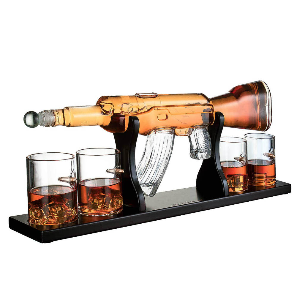 The wine savant Rifle Gun Whiskey Decanter