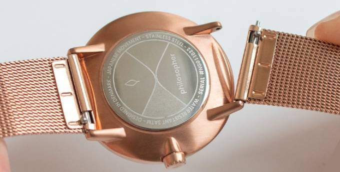 Philosopher Rose Gold Mesh Strap Pinhead