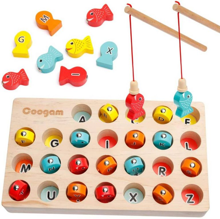 Coogam wooden magnetic fishing game