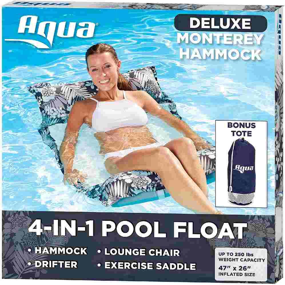 Aqua Inflatable Pool Float Hammock