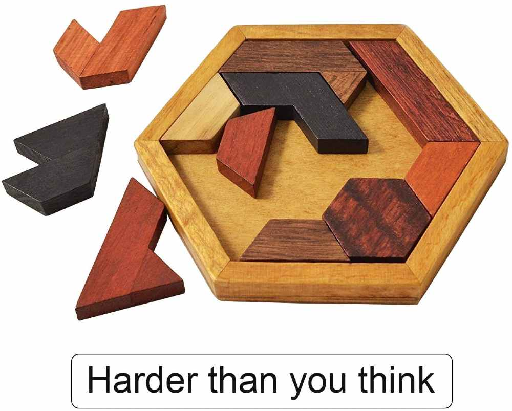 Kingzhuo Hexagon Tangram Puzzle