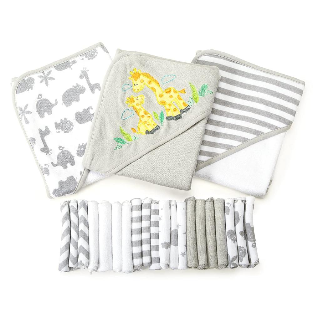 Spasilk Washcloths and Hooded Towels